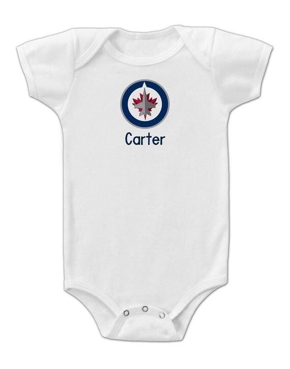 Personalized winnipeg jets baby bodysuit negle Choice Image