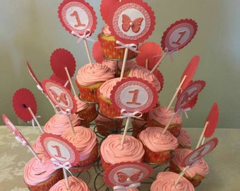 Sparkle Cupcake Toppers