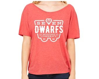 Disney Shirts Ladies Slouchy Tee Seven Dwarfs Mining Company Shirt Disneyland Shirt Disney World Shirt Magic Kingdom Shirt Snow White Shirt
