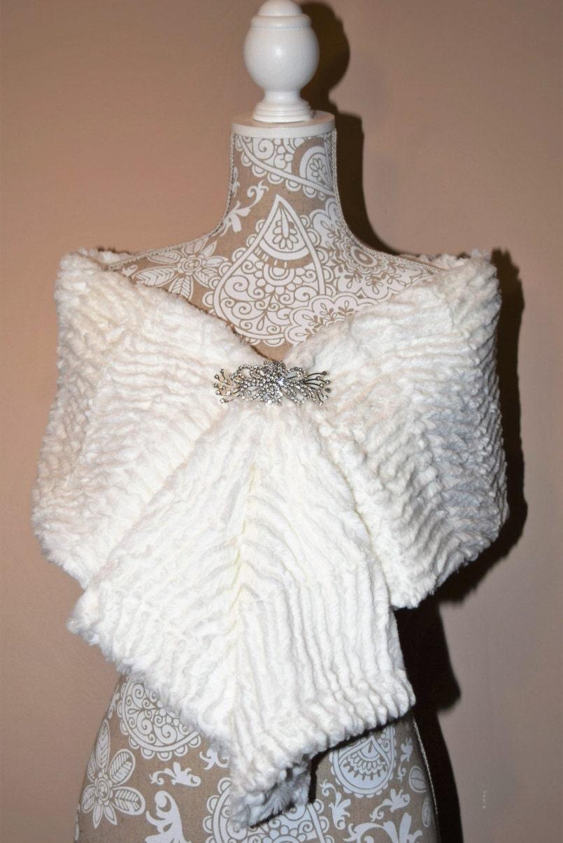 bridal wrap wedding wrap faux fur wrap bridal shawl fur stole