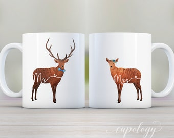 Deer Mr And Mrs Etsy