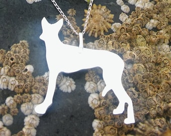 Silver necklace, Silver dog necklace, Dog necklace, Silver pendant, Silver Dog pendant, Dog lover gift, Mothers day gift, Birthday gift.