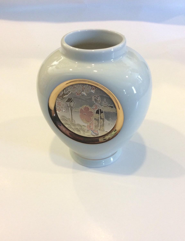 The Art Of Chokin Geisha Vase 24k Gold Edge By ClassicsByTAF