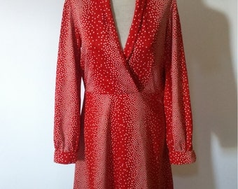 70s Red polka dot dress.