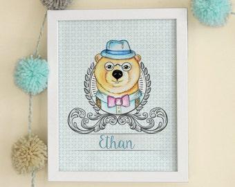 Digital Print Illustration Bear