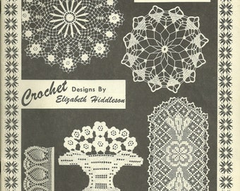 Elizabeth Hiddleson Vintage Crochet Design Elizabeth Hiddleson Vol. 2-A, Thread Crochet, Doilies, Home Decor
