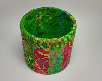 Quilted Fabric Container