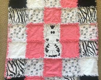 Zebra Baby Blanket