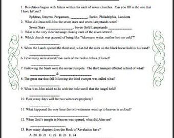 The Book of Revelation Trivia Quiz