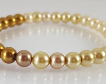 6mm Glass Pearl Bracelets