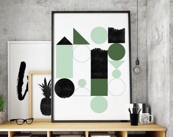 Modern Minimalist, Print Geometric, Decor Modern, Print Scandinavian, Minimal Modern, Print Abstract, Prints Minimalist, Art Minimalist