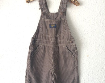 The Workhorse Vintage Osh Kosh Short Brown Dungarees - Age 4 Years