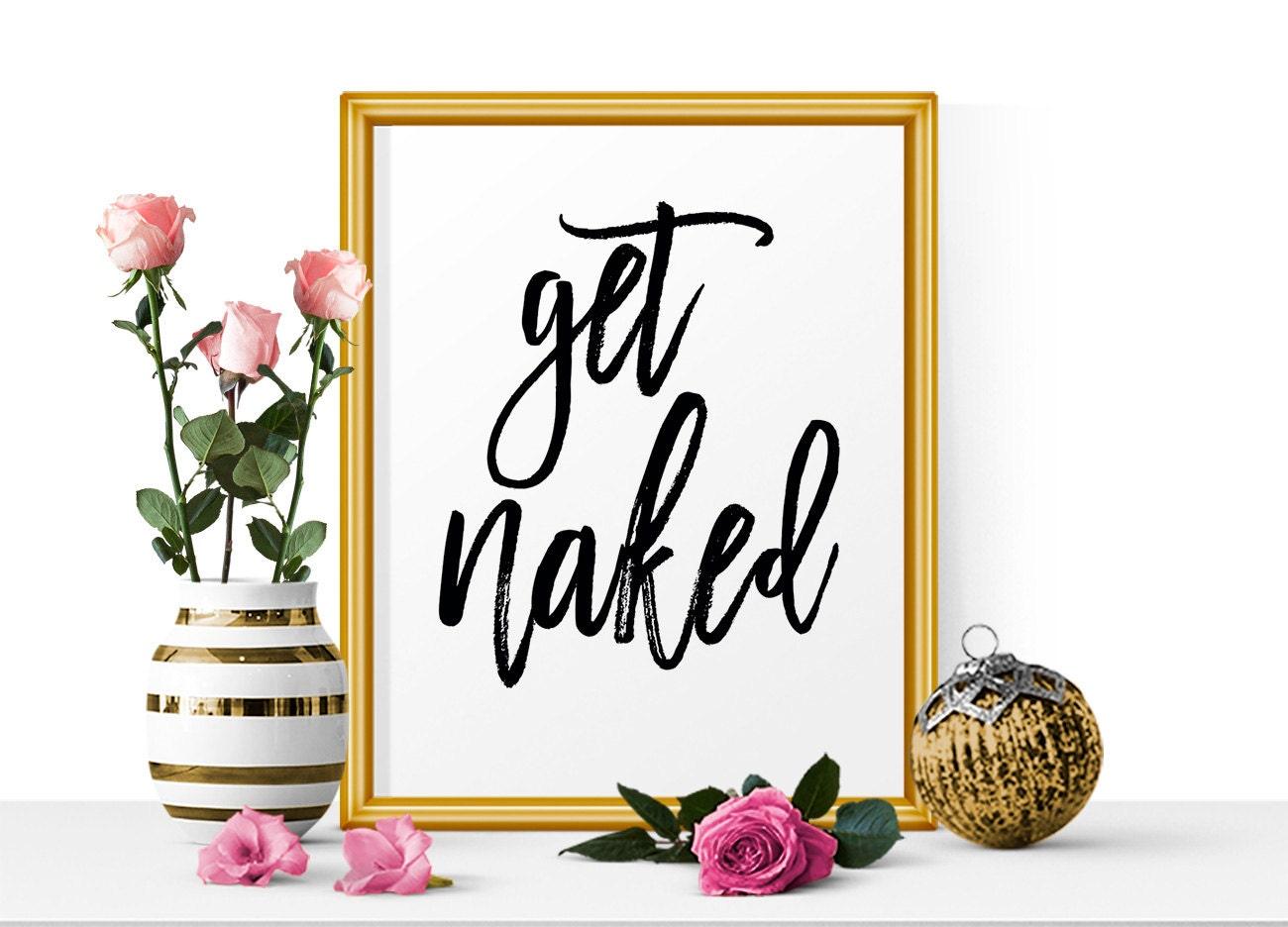 Get Buck Naked Bathroom Sign Bathroom wall Art Cabin wall