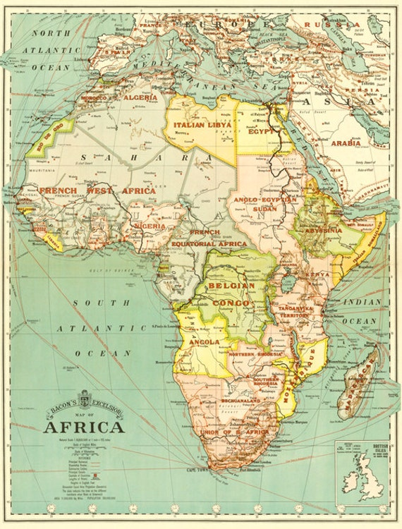 Dynamic image pertaining to africa map printable