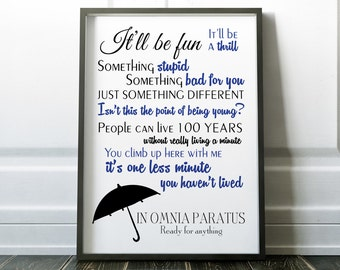 Gilmore Girls In Omnia Paratus ready for anything quote Poster Rory and Logan art life and death brigade present inspirational quote poster