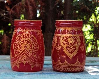 Moroccan decor, moroccan glass jar lantern, moroccan candle lantern, hanging lantern, bohemian lantern, outdoor lighting, boho home decor