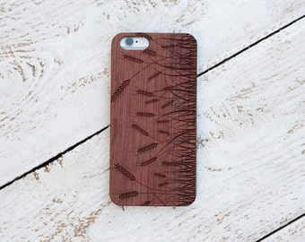 Wood Case, iPhone 8, iPhone X, 7, 7 Plus, 6s, 6 6 Plus, 5s, 5, SE, Samsung Galaxy S8, S7, S6, Cover, Engraved #4012