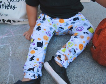 HALLOWEEN leggings, toddler harems, harems, ready to ship, holiday, kids fashion, toddler fashion, halloween, drop crotch, accessories