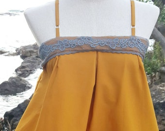 Free 1 item if buy carmisole tops with mustard color