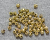 Pewter tiny beads 8*7mm. One bag of pewter zinc alloy findings.Lead and nickel free. Sold by the bag. 022-8700