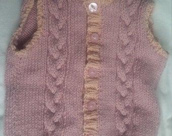 Hand knitted waistcoat