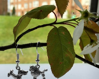 Silver Plated Doggy Earrings
