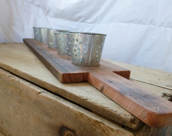 Rustic, Wooden 5-Votive Candle Holder