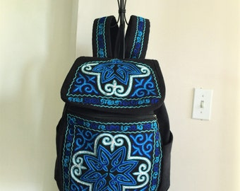 Hand embroidered backpack