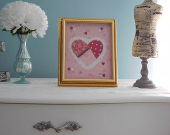Heart Wall Art  Decorative Artwork Appilque