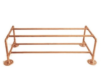Industrial Copper Pipe Copper Shoe Rack