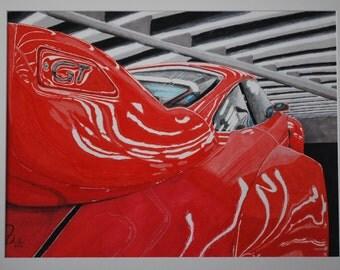 PORSCHE 911 Original Drawing