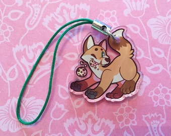 "1"" Double Sided Acrylic Charm - Fox"