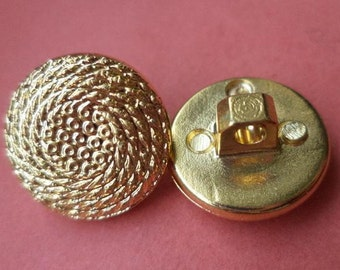 10 small buttons gold 14mm (5396) button small