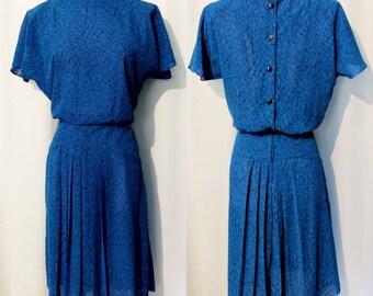 Jamie Bright Blue 80s Day Dress
