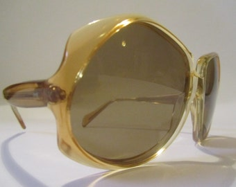 Large Vintage Oversized Sunglasses Italianline Sunglasses made in Italy NEW NEW year 1970/80