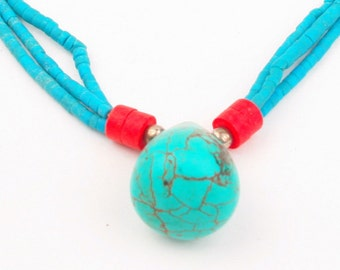 Turquoise necklace, Turquoise necklaces , Turquoise handmade Turquoise jewelry, gifts for her.