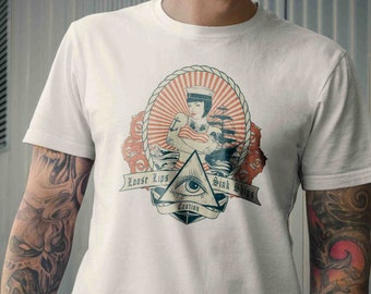 Loose Lips Sink Ships - Pin-Up Sailor Rockabilly Vintage Inspired Mens Tee Shirt S M L XL 2XL 3XL