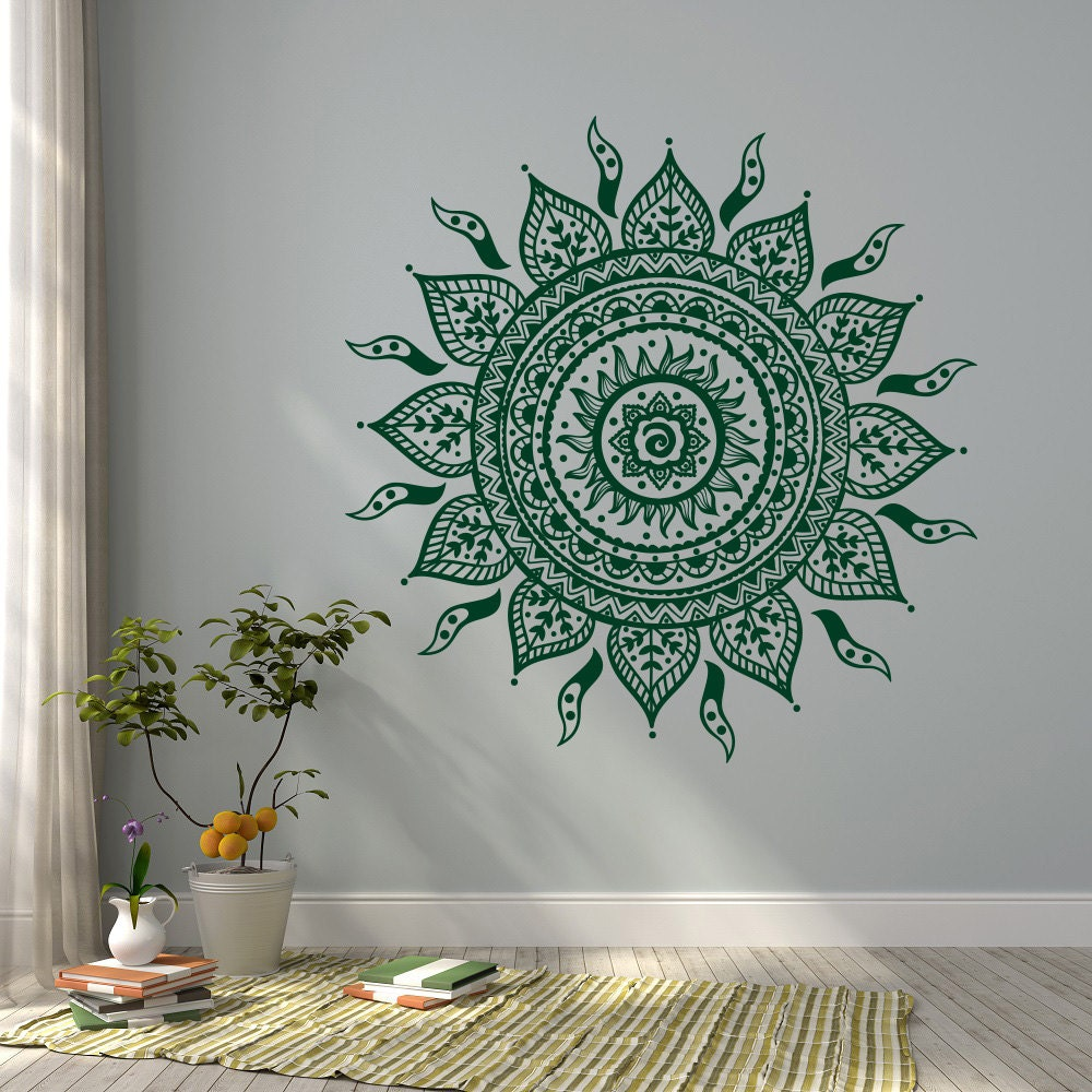 Mandala Wall Decal Sticker Mandala Vinyl Wall Decals Yoga