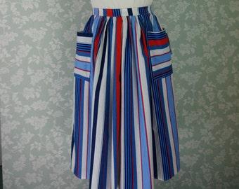 "Summer stripy pocket skirt 30""~ 31"""