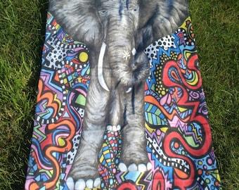 Elephant Beach Towel - Beach Towel - Towel