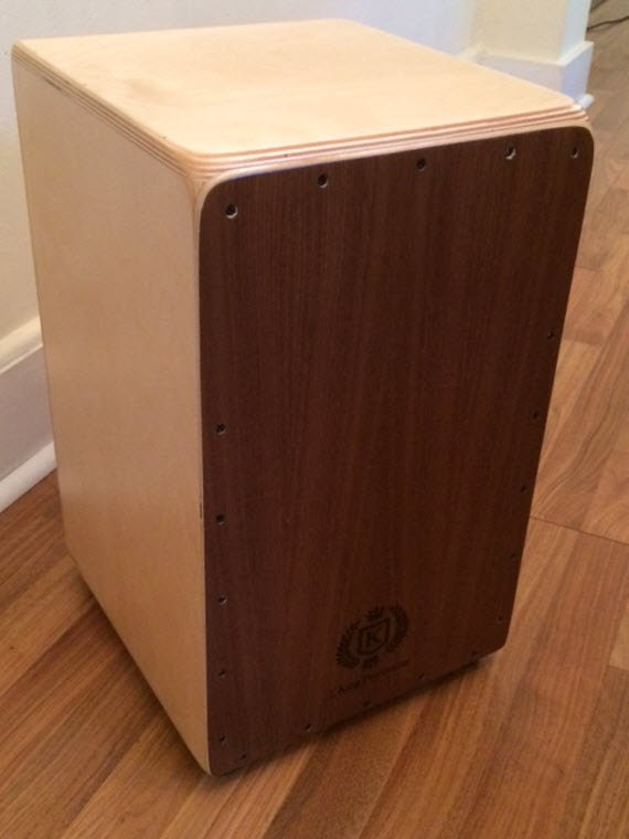 Professional Cajon w/Knob Adjustable String Tension - Walnut & Birch