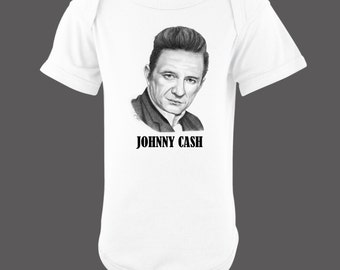 Johnny Cash Baby Bodysuit by Frizzell