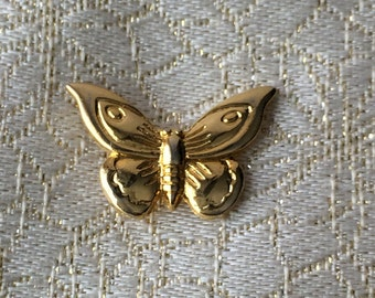 small Butterfly pin, gold tone, used
