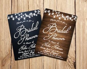BRIDAL SHOWER INVITATION, Country Bridal Shower Invitation, Rustic Bridal Shower Invitation, Printable Bridal Shower Invitation, Bridal