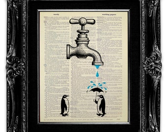 Funny Bathroom Decor Funny Bathroom Art Penguin Bathroom Wall Art Penguin Art
