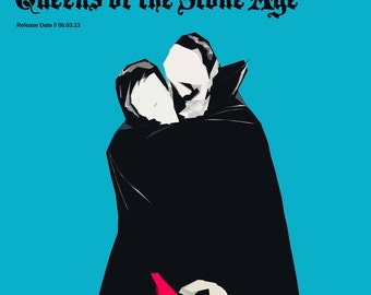 Queens of the Stone Age Poster - ...Like Clockwork v2 - Custom Band Posters - QOTSA - Josh Homme - American Rock - Rock Gift Alternative