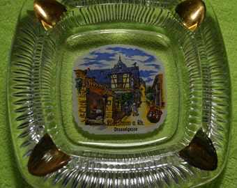 Collectible Ashtray from Germany Drosselgasse