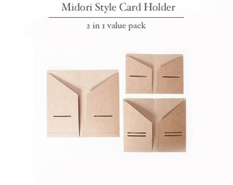 Kraft Card Holder for Midori Travelers Notebook - Pack of 2