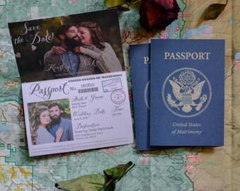 Passport save date | Etsy
