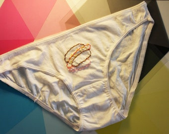 Embroidered panties hot dog